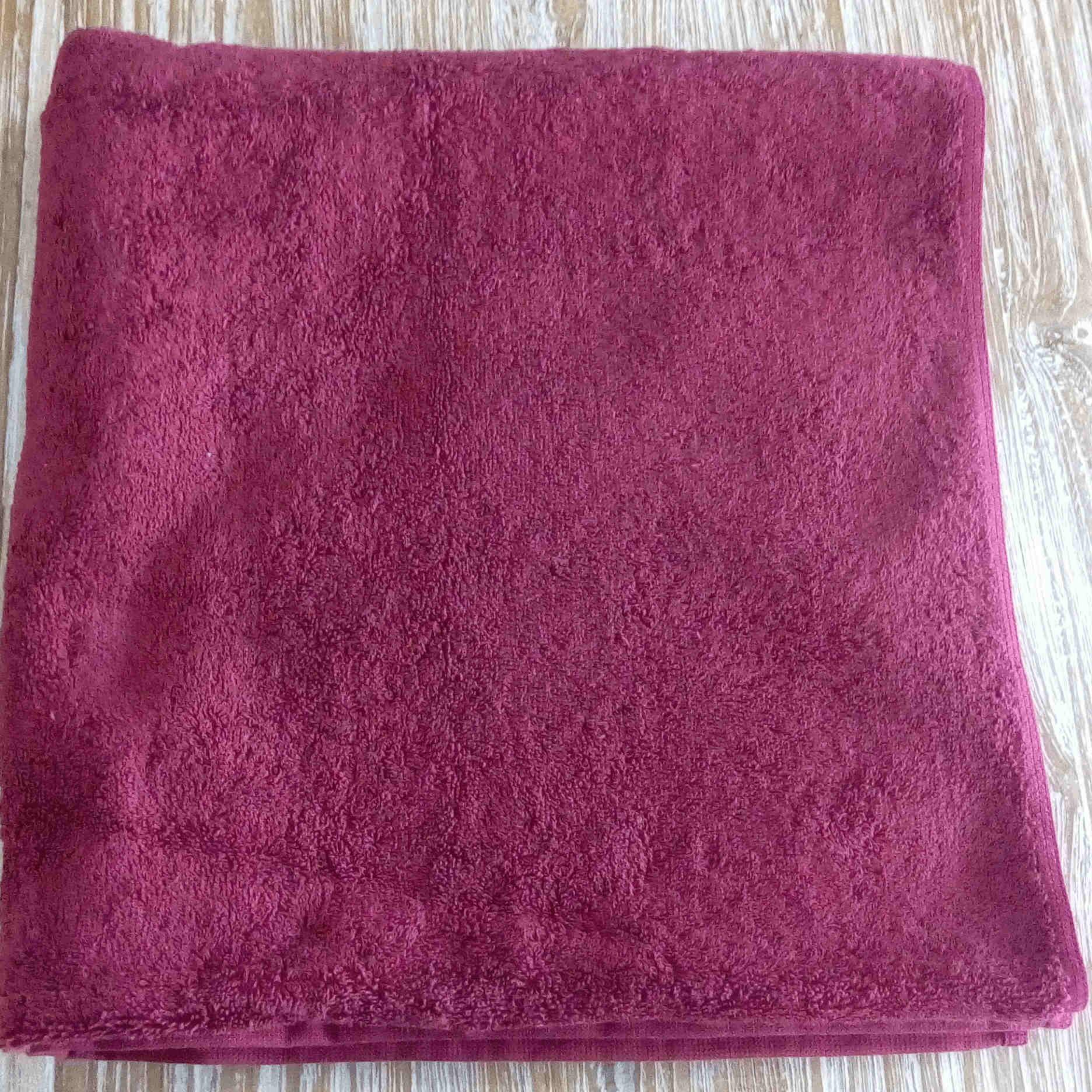 Bath Towel - Maroon - BaliOz