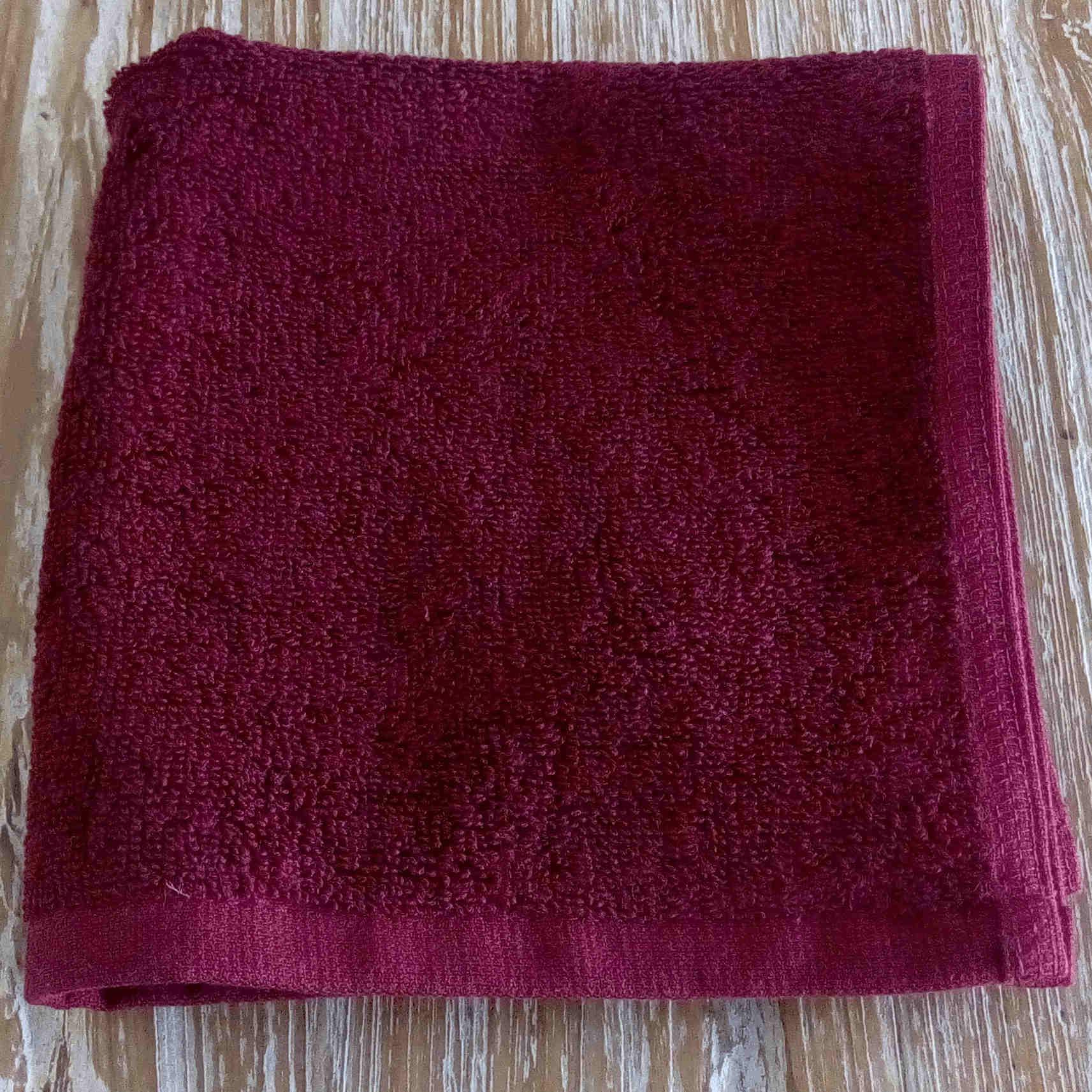 Face Towel - Maroon - BaliOz
